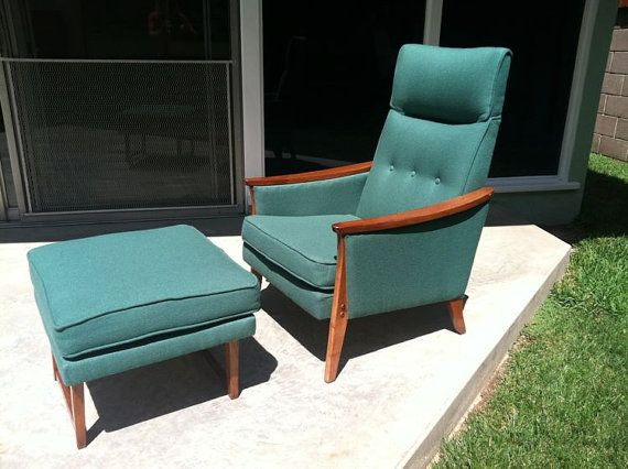 SUPER SALE Mid Century Teal Tufted Modern Comfy Lounge Chair MCM Wood  Accents Midcentury Seating