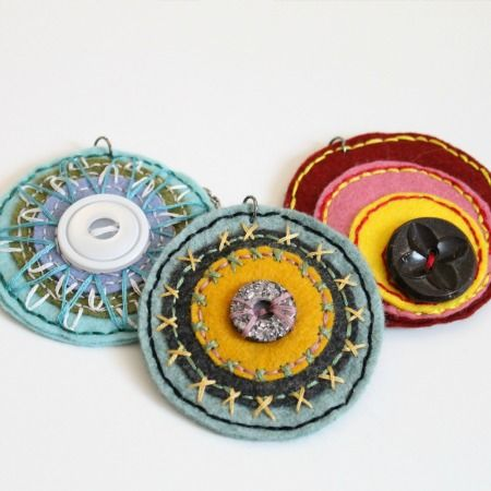 Embroidered Pendants - Do Small Things with Love