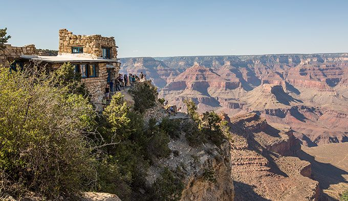 Lookout Studio was constructed for viewing the canyon, and therefore has a prime location. Description from mygrandcanyonpark.com. I searched for this on bing.com/images