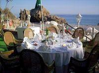 Recepción de bodas al aire libre en el Balcón de Europa, Nerja