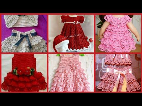 3ba6ff82be7b Top Beautiful Hand Made Crochet Baby Dress Designs //Crochet Designs Ideas  - YouTube