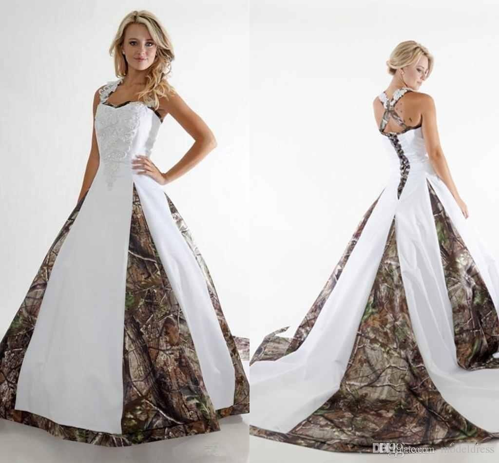 2016 new camo princess wedding dresses spaghetti appliques a line 2016 new camo princess wedding dresses spaghetti appliques a line sweep train elegant country bridal gowns ombrellifo Image collections