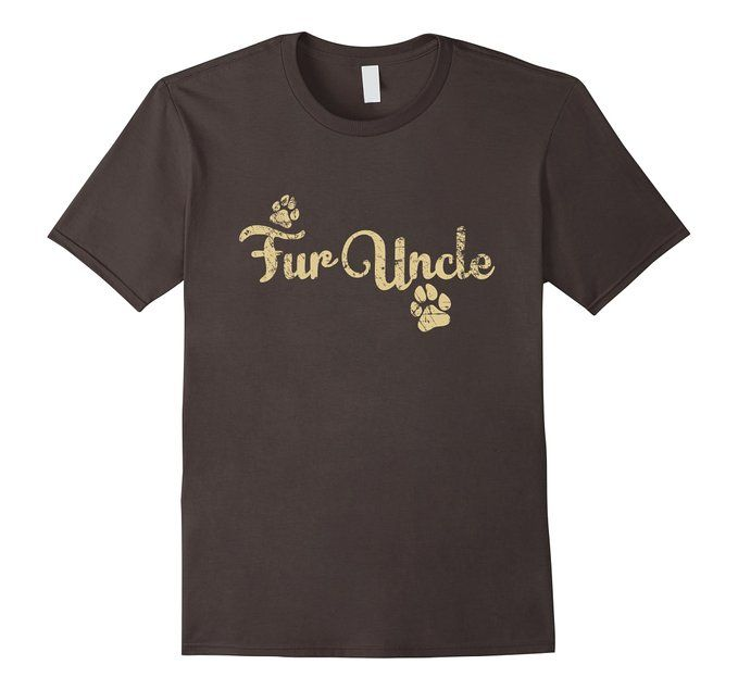 Men's Fur Uncle Shirt, Funny Dog or Cat Lover Owner Gift 2XL Asphalt