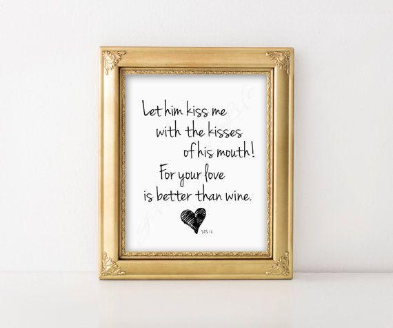 Let him kiss me Love letters PDF \ JPEG instant by PrintsofLife - letters in pdf