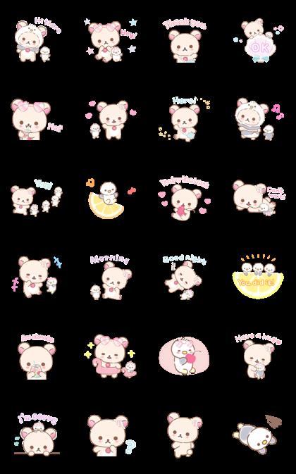 Rilakkuma Korilakkuma S Vacation Line Sticker Gif Png Pack Animated Transparent No Background Whatsapp Stic Cute Stickers Kawaii Stickers Mini Drawings