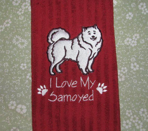 Samoyed Dog Towel Personalize It I Love My Doggie Samoyed Dogs Samoyed My Love