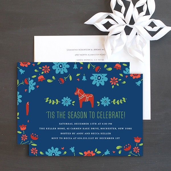 Scandinavian Chic Holiday Party Invitations by Elli Christmas - holiday party invitation