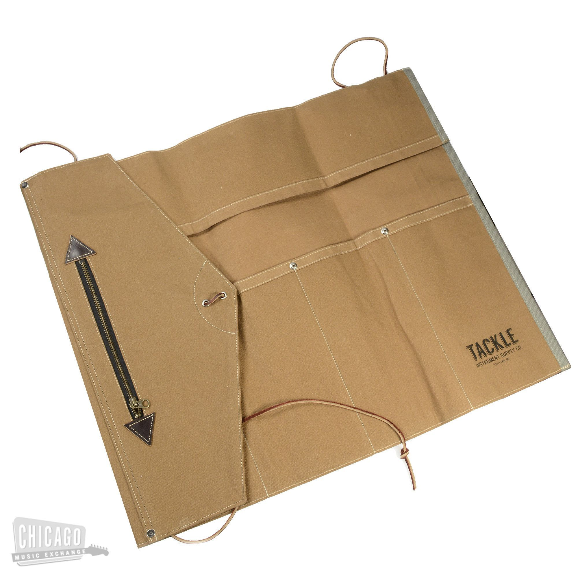 Tackle By Mcpherson Waxed Canvas Roll Up Stick Bag Brown Tackle
