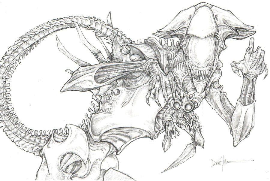 Xenomorph Alien Queen Xenomorph Alien Drawings Alien Queen