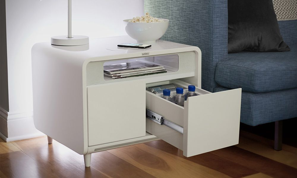 sobro smart side table cool material