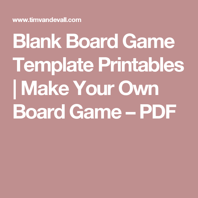 Blank Board Game Template Printables   Make Your Own Board Game ...