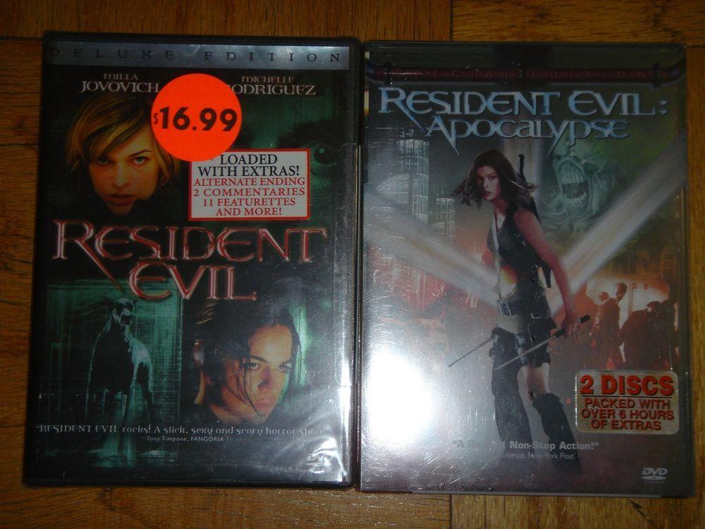 Resident Evil & Apocalypse 2 Set DVD Brand New in Protective Plastic Sealed