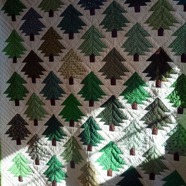 #Pine #tree quilt Love it! | Christmas quilts, Christmas quilting projects, Tree quilt