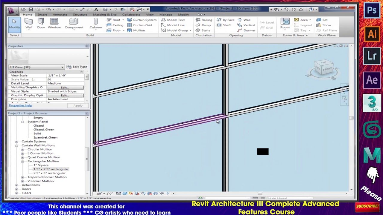 Curtain Wall Mullions And Join Conditions Revit Architecture Revit Architecture Architecture Curtain Wall