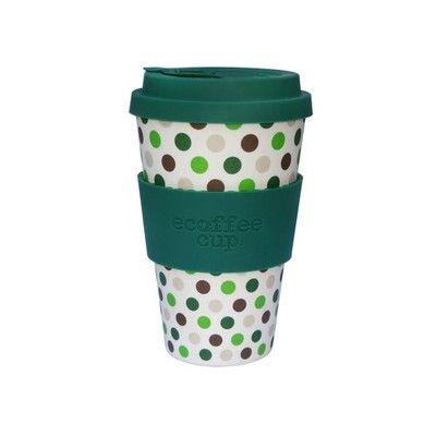 Ecoffee Cup Kaffeebecher Green Polka Cups