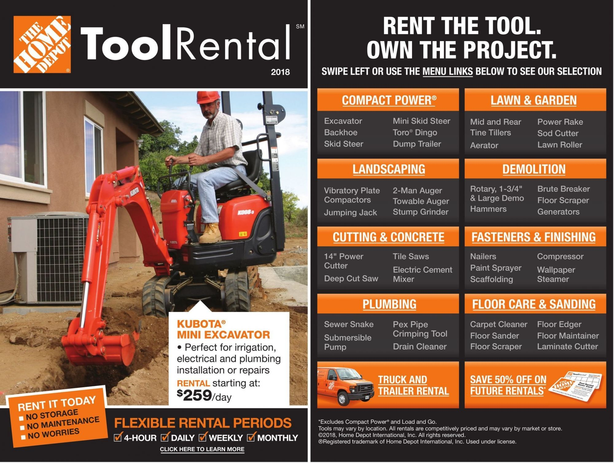 Flyer Home Depot Tool Rental 2018 Canada From Friday March 23