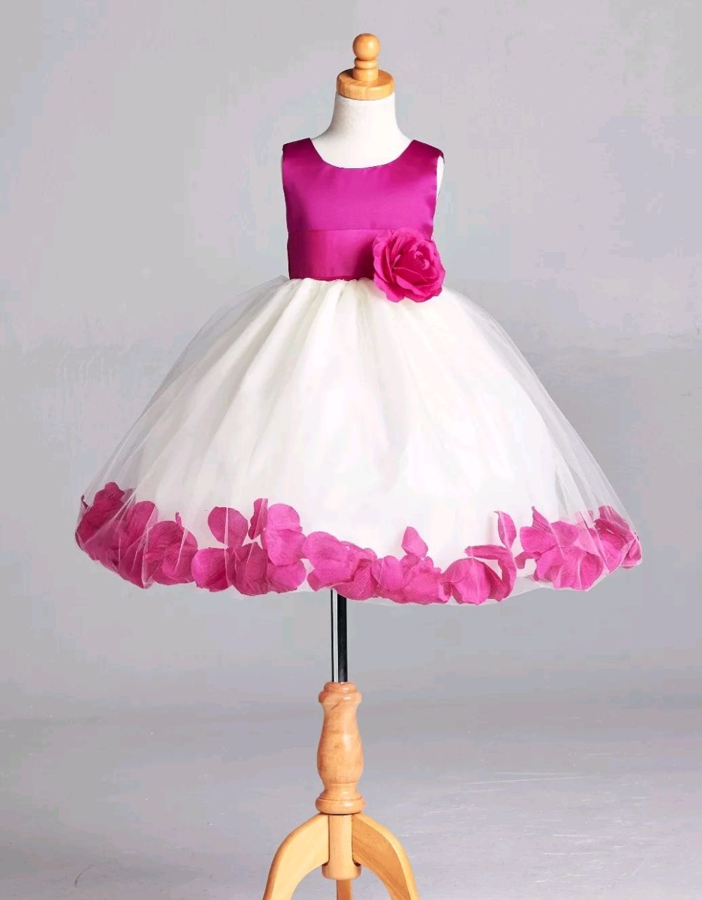 b2bc7fd5000 cosmicturtleboutique - Rose pedal puffy tulle dress