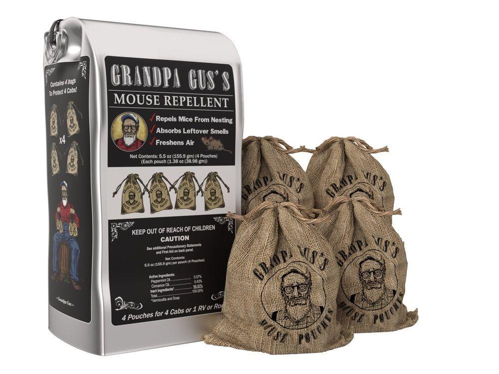 Grandpa Guss Natural Rodent Repellent Pouches NonToxic