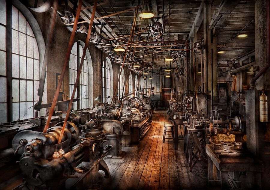 Machinist A Fully Functioning Machine Shop Photograph
