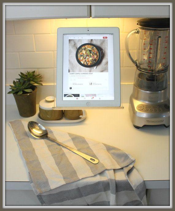 Kitchen Under cabinet Tablet Ipad Recipe Holder by RKcad on ...