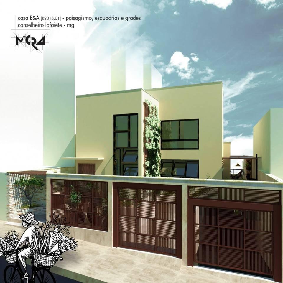 Casa EA. Projeto paisagismo, esquadrias e grades
