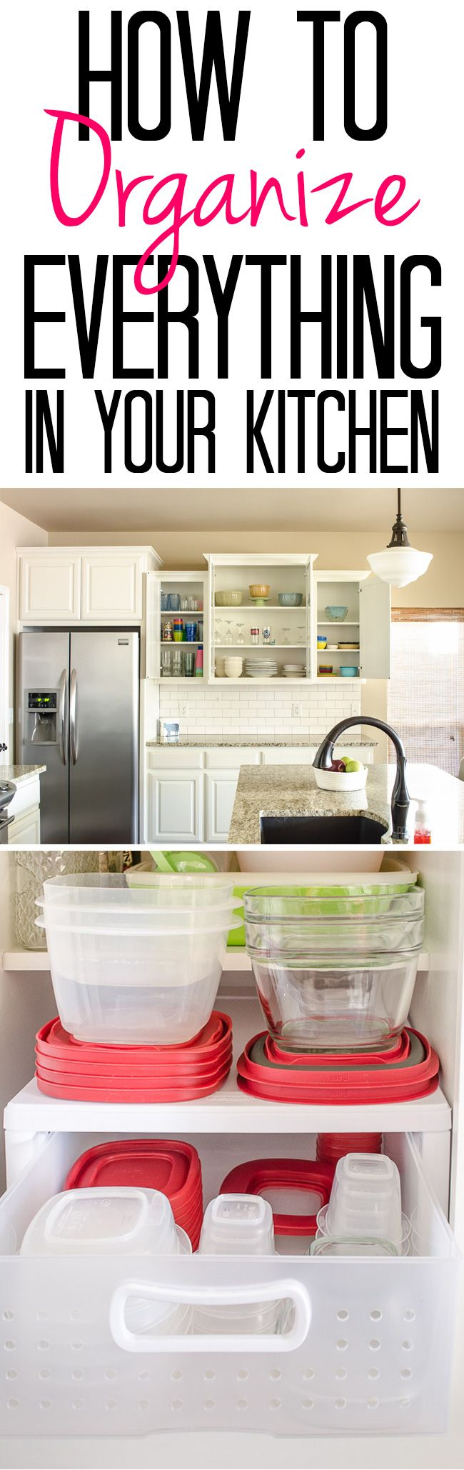 How to Organize Everything in Your Kitchen | Pinterest | Organizing ...