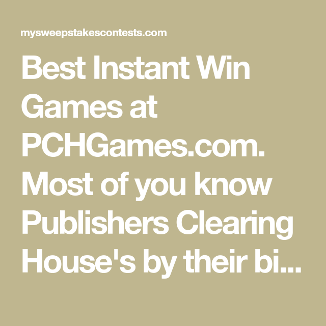 Has anyone ever won pch instant win games