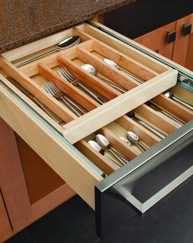 Kitchen Drawer Organization Hafele Double Cutlery Drawer Insert