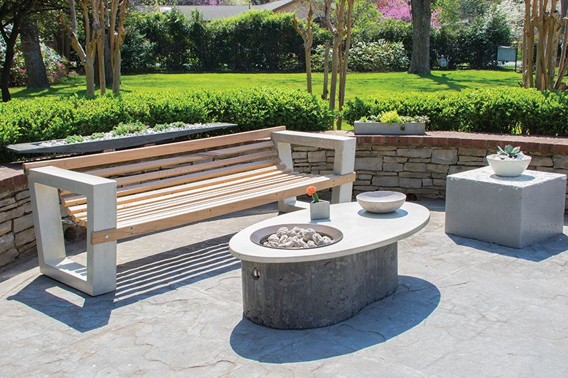 Pool Area Wooden And Concrete Outdoor Furniture For The Patio Totally Modern Lounge Away Designer J Concrete Outdoor Furniture Design Outdoor Furniture