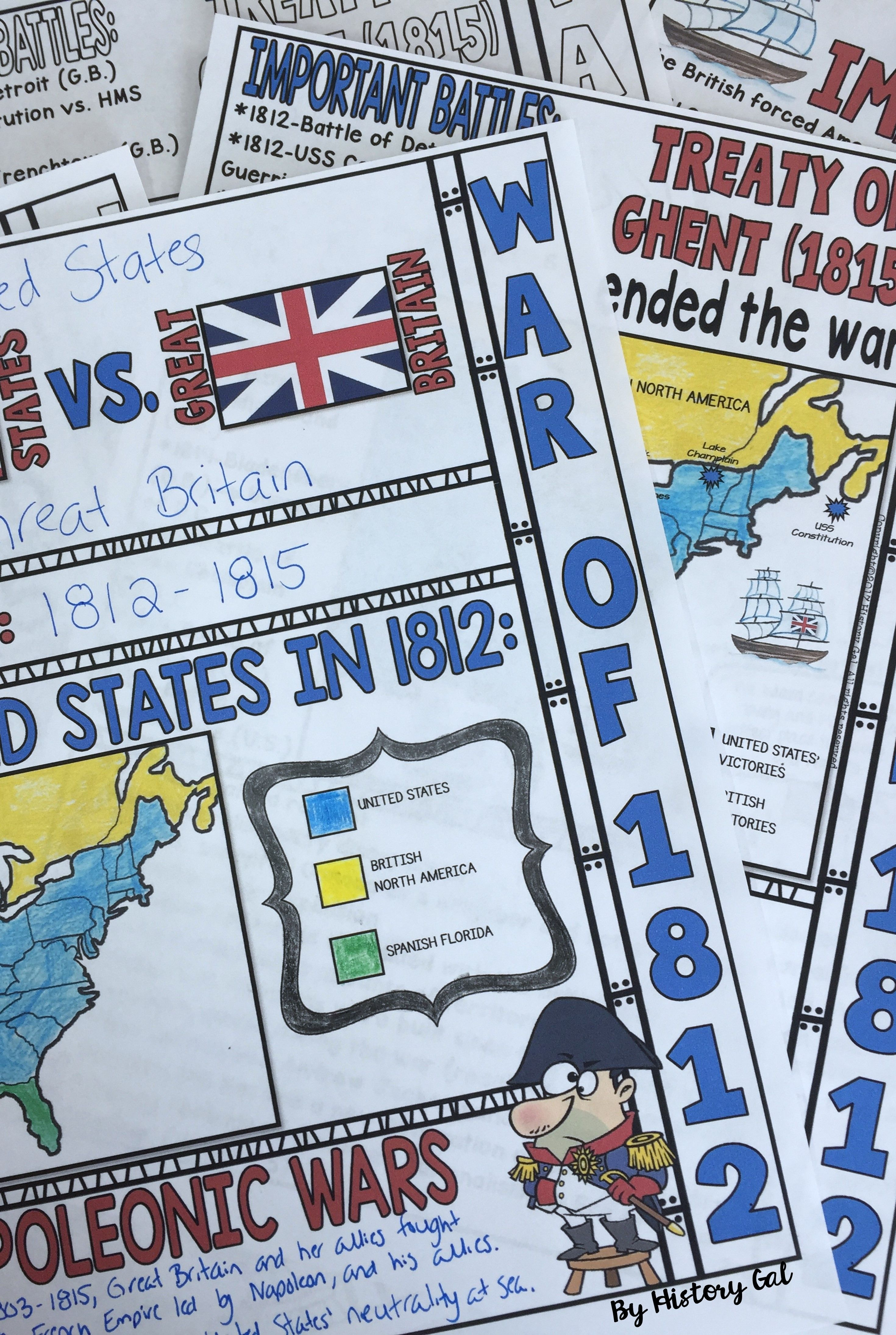 medium resolution of Students will color and doodle as they take notes to learn about the War of  1812. These graphic doodles notes…   Doodle notes