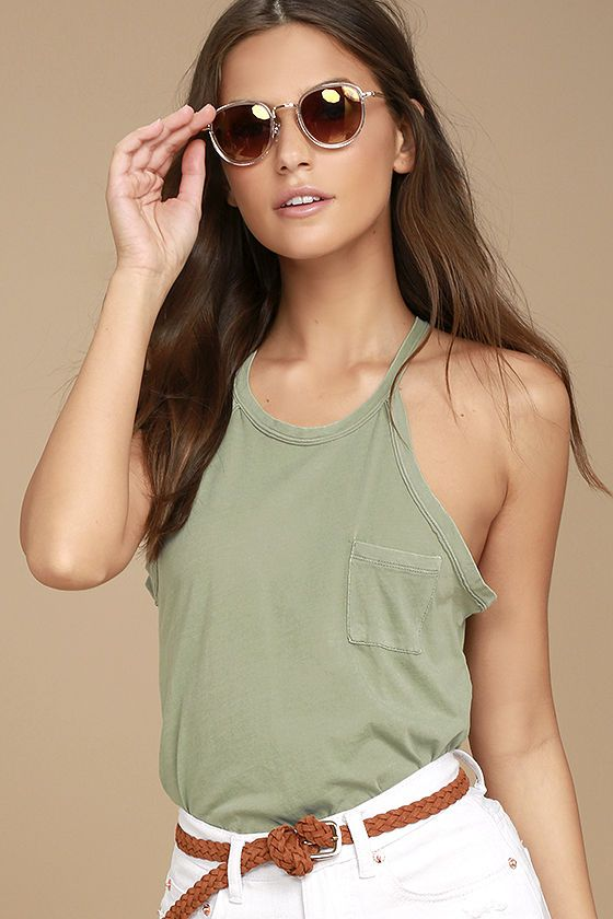 51e540043ecb6 Tank Tops · Pocket · Fashion Outfits · Olive Green · We re getting giddy  just thinking of all the ways to wear the Others Follow