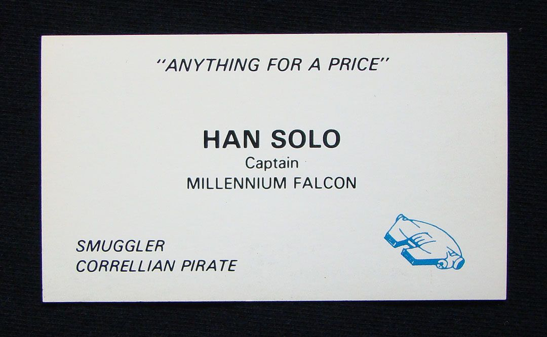 If Star Wars Characters Had Business Cards, They\'d Look Like This ...