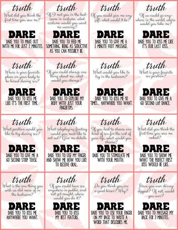 Truth or dare questions for two people