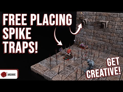 26 Free Placeable D D Spike Traps Use Anywhere Youtube Traps D D Wargaming Terrain