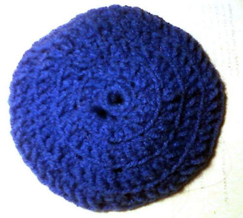 Free Crochet Pattern Crocheted Yarmulke Jewish Crochet