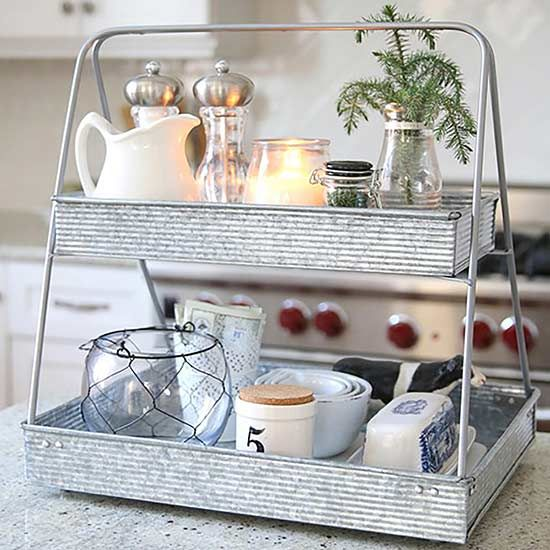 The kitchen organizer you need to be using tiered stand for Kitchen countertop storage solutions