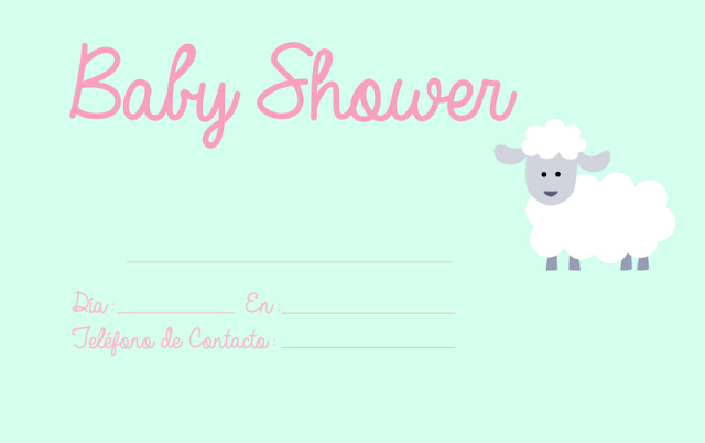 Invitaciones Baby Shower para Imprimir   Invitaciones de baby ...