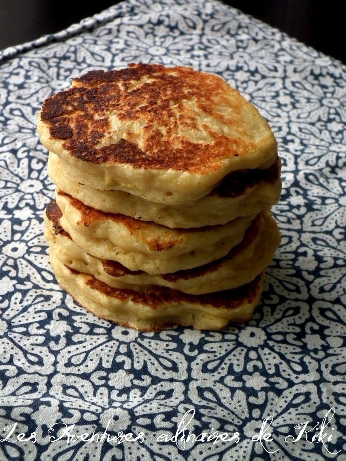 Les Aventures culinaires de Kiki: Pancakes protéinés au fromage cottage, au kamut et à l'orange
