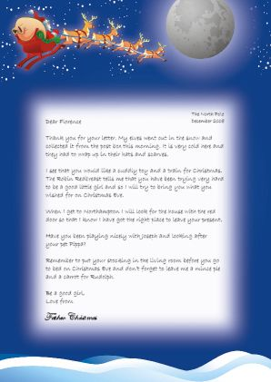sample reply letter from santafather christmas click to enlarge - Father Christmas Letters
