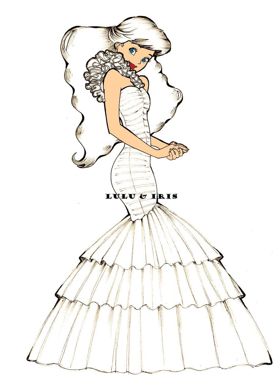 Disney Princess Wedding Dresses: Ariel by ~lulu-ibeh on deviantART ...