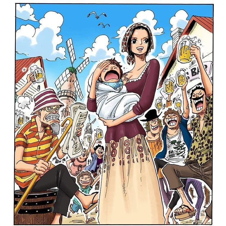 One Piece - Makino & Woop Slap   One piece manga, One ...