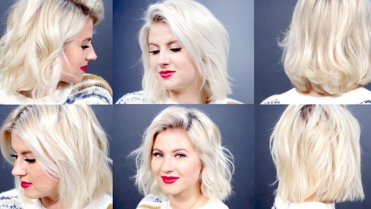 6 Curls Waves For Short Hair With Curling Wand Milabu How To Curl Short Hair Curled Hairstyles Wand Curls