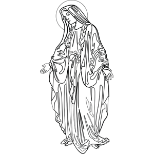 The Virgin Mary coloring page  embroidery  Pinterest  Virgin