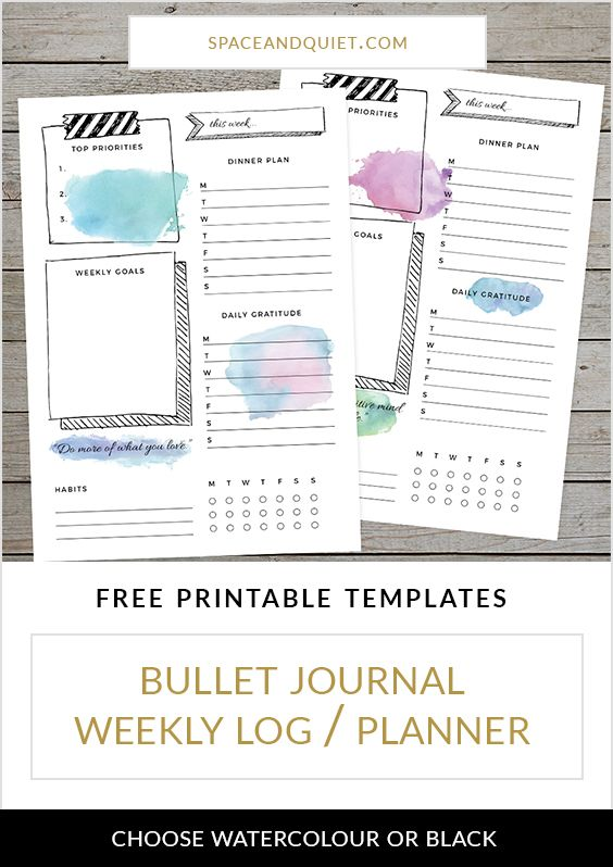 Organise Your Week With A Bullet Journal Weekly Log Free Template - weekly log template