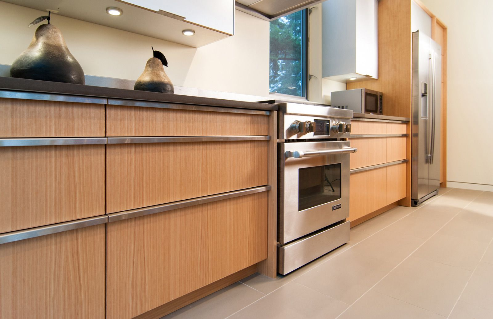modern birch kitchen cabinets - Google Search - Note that the ...