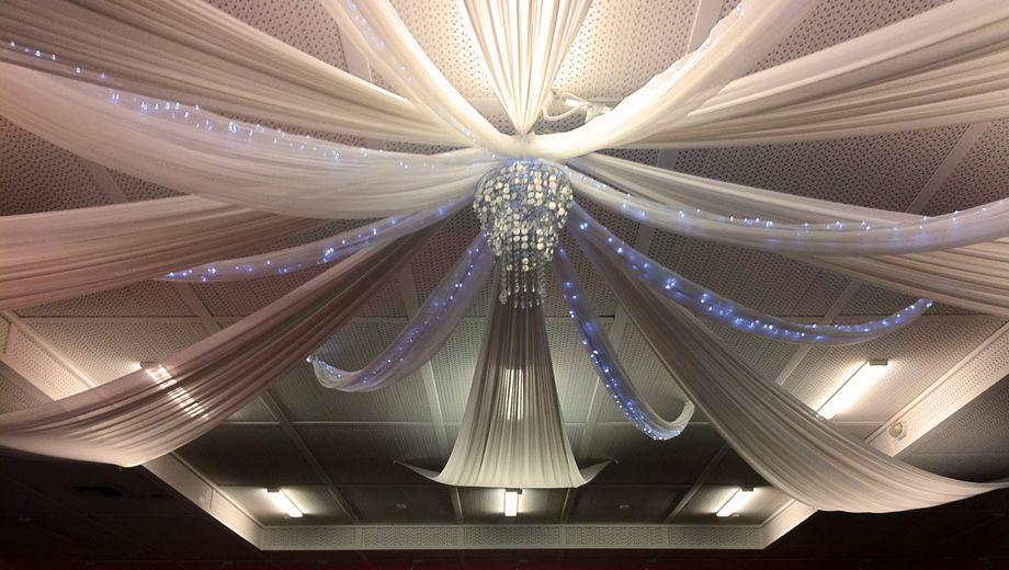 Wedding decorations ceiling drapes wedding services for Ceiling decoration ideas
