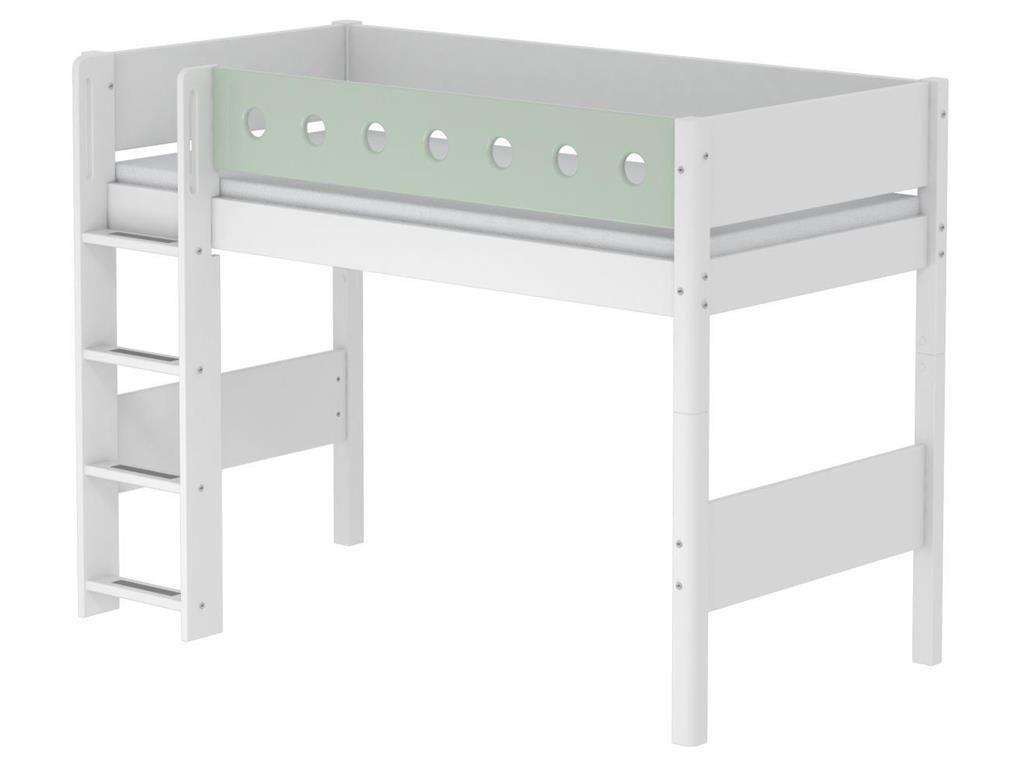 Elegant Flexa Hochbett Ideen Von White 90x190cm Mit Gerader Leiter Weiß Höhe