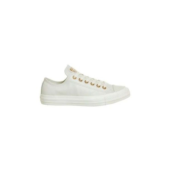 b91734b6e24a All Star Low Leather Trainers by Converse (100 CAD) ❤ liked on Polyvore  featuring shoes