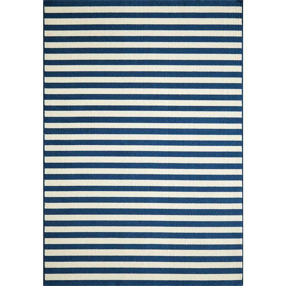 Baja Navy (Blue) 3 ft. 11 in. x 5 ft. 7 in. Indoor/Outdoor Area Rug