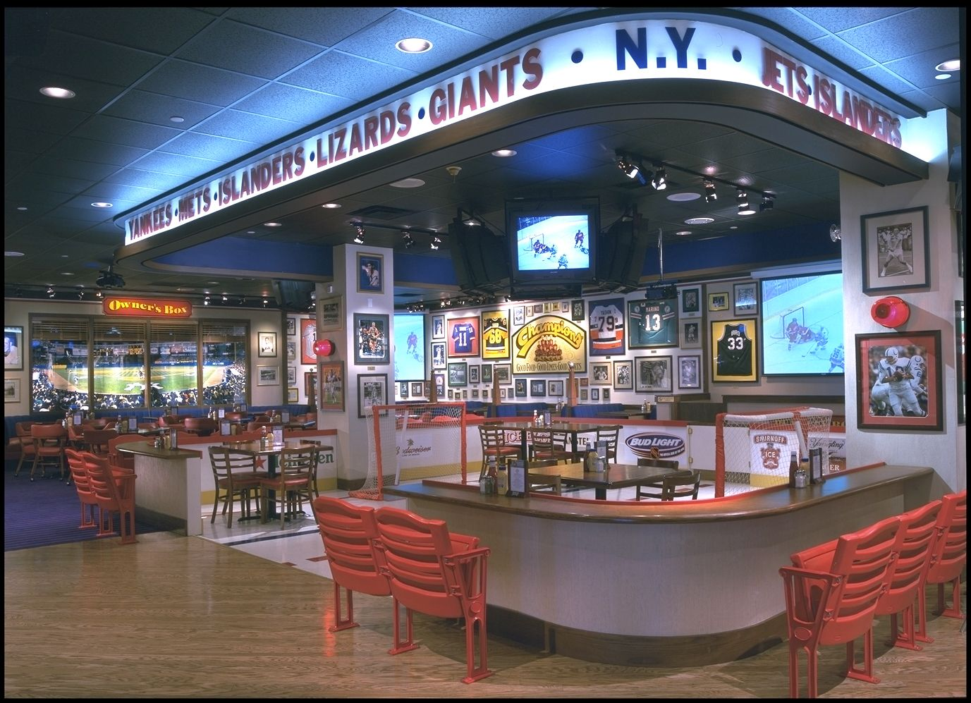 very typical sports bar, which elements to take from